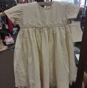 Baby vintage ivory gown - handmade